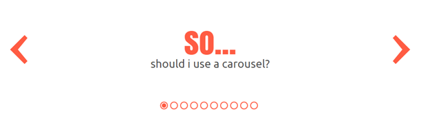Should I use a Feature Carousel?